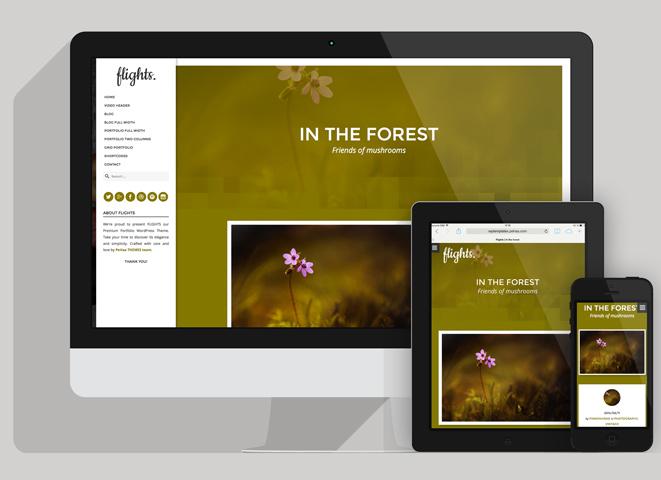 WordPress theme Flights - Creative Portfolio WordPress Theme (Portfolio)